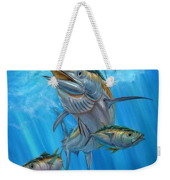 Black Marlin And Albacore Weekender Tote Bag