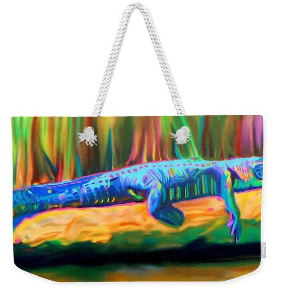 Blue Alligator Weekender Tote Bag