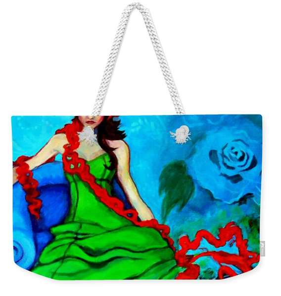 Blue Compliments Weekender Tote Bag
