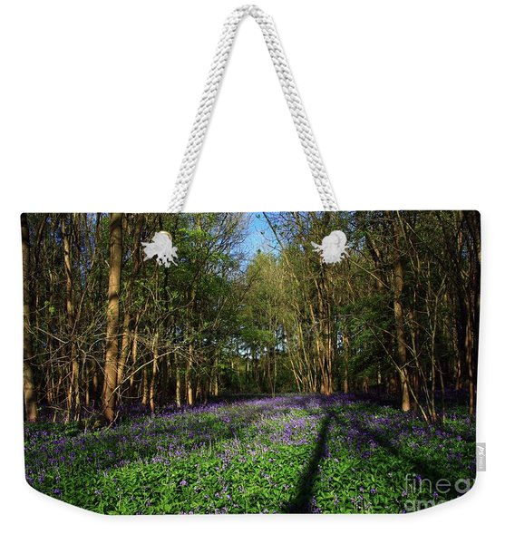 Weekender Tote Bag featuring the photograph Bluebells by Jeremy Hayden