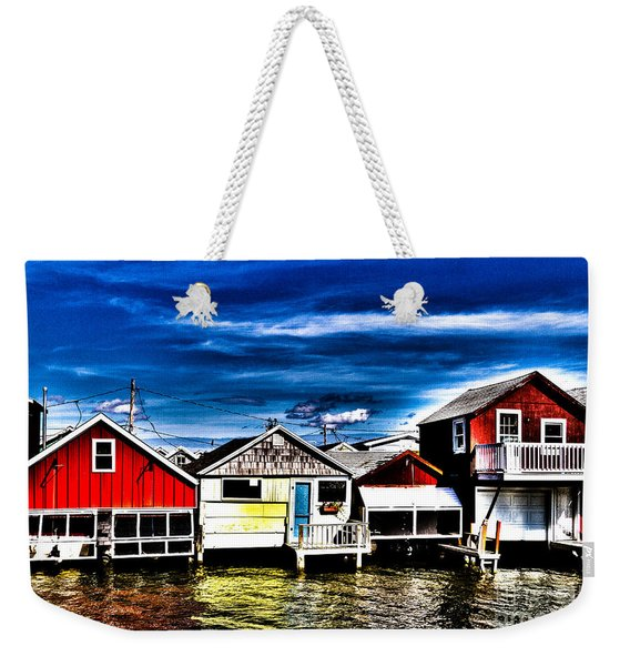 Weekender Tote Bag featuring the photograph Boathouse Row by William Norton
