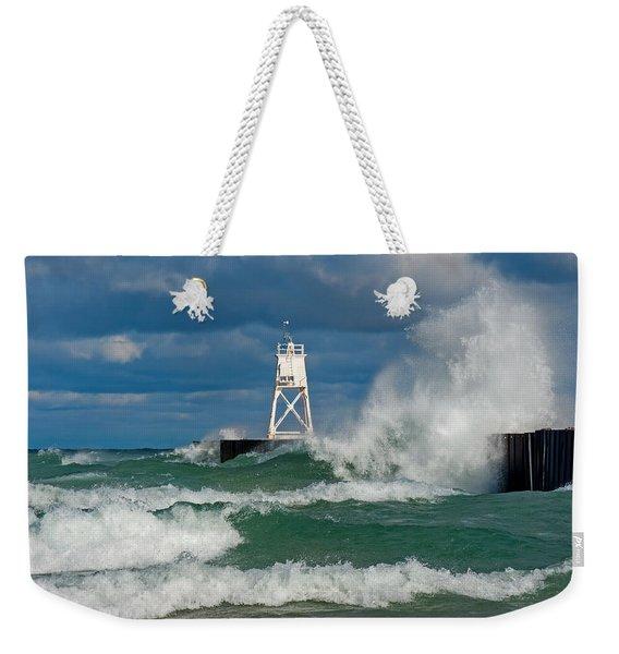 Break Wall Waves Weekender Tote Bag