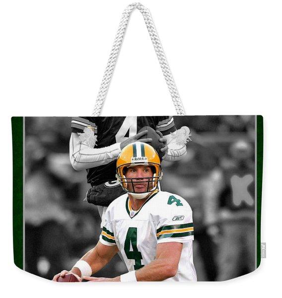 Brett Favre Packers Weekender Tote Bag