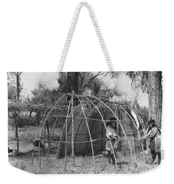 Building A Yokut House Weekender Tote Bag