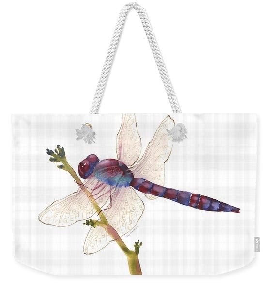 Burgundy Dragonfly  Weekender Tote Bag