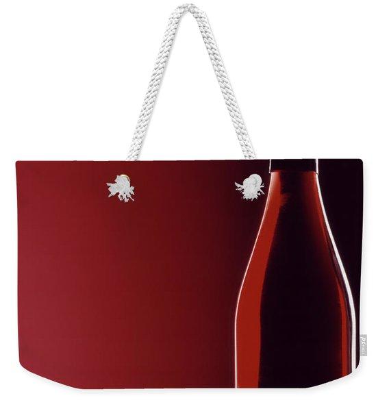 Burgundy Weekender Tote Bag