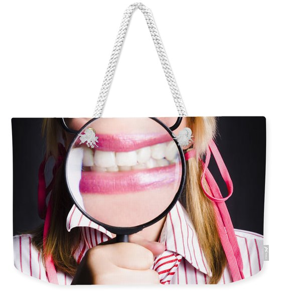 Business Person With Work Dental Health Cover Weekender Tote Bag