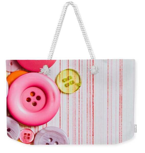 Buttons Weekender Tote Bag