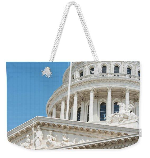 California State Capitol In Sacramento Weekender Tote Bag