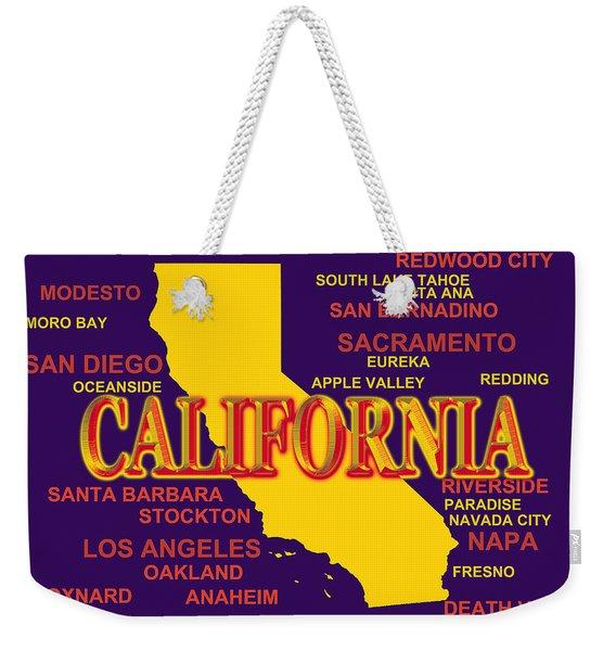 California State Pride Map Silhouette  Weekender Tote Bag