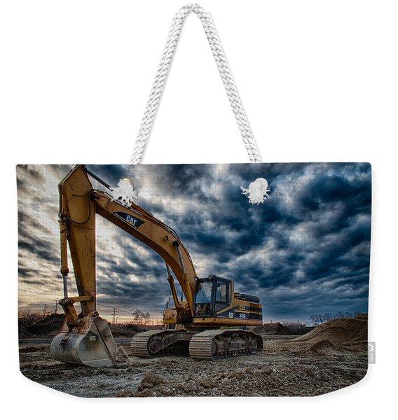 Cat Excavator Weekender Tote Bag