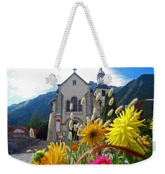 Chamonix Church Weekender Tote Bag