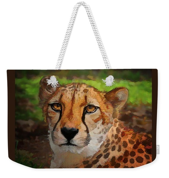 Cheetah Mama Weekender Tote Bag