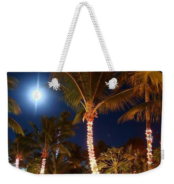Christmas Palms Weekender Tote Bag