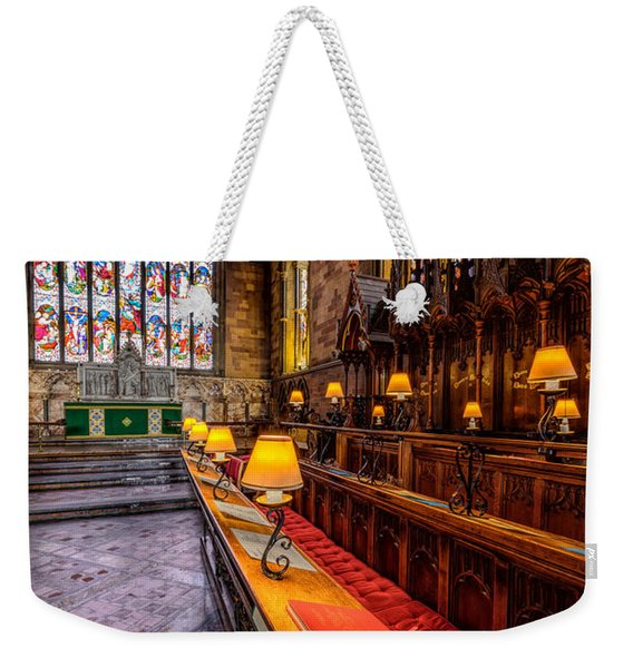 Church Lamps Weekender Tote Bag