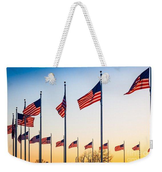 Circle Of Flags Weekender Tote Bag