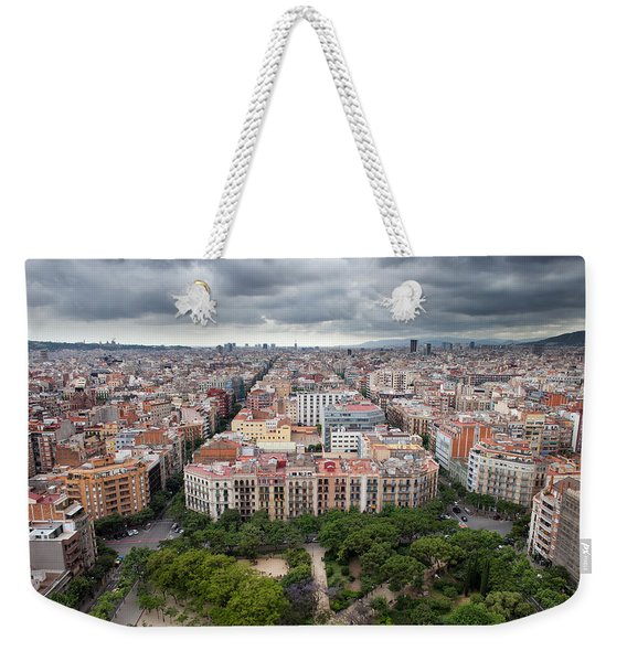 City Of Barcelona From Above Weekender Tote Bag
