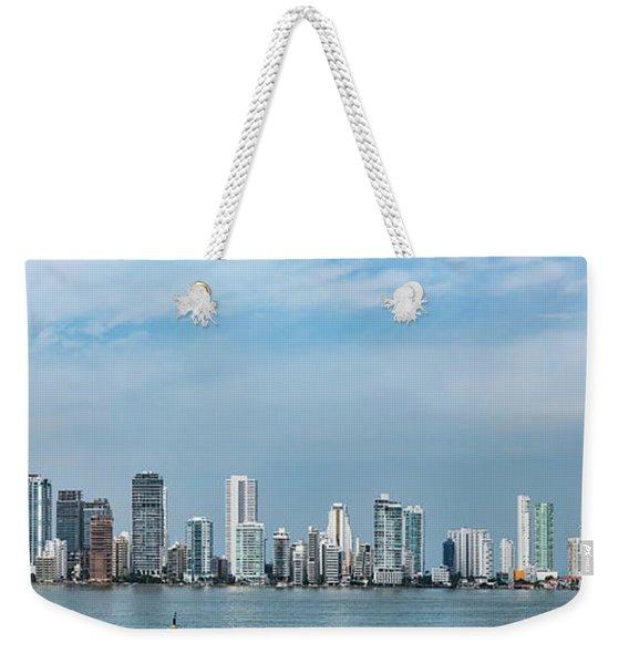City Skyline, Bocagrande, Cartagena Weekender Tote Bag
