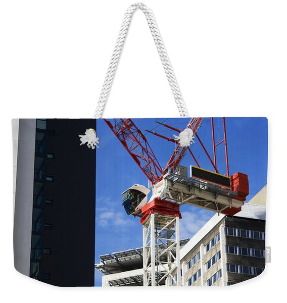 Cityscape Crane Weekender Tote Bag