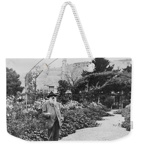 Claude Monet In His Garden At Giverny Weekender Tote Bag