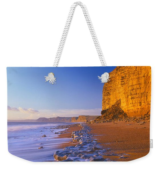 Cliff On The Beach, Burton Bradstock Weekender Tote Bag
