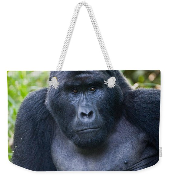 Close-up Of A Mountain Gorilla Gorilla Weekender Tote Bag