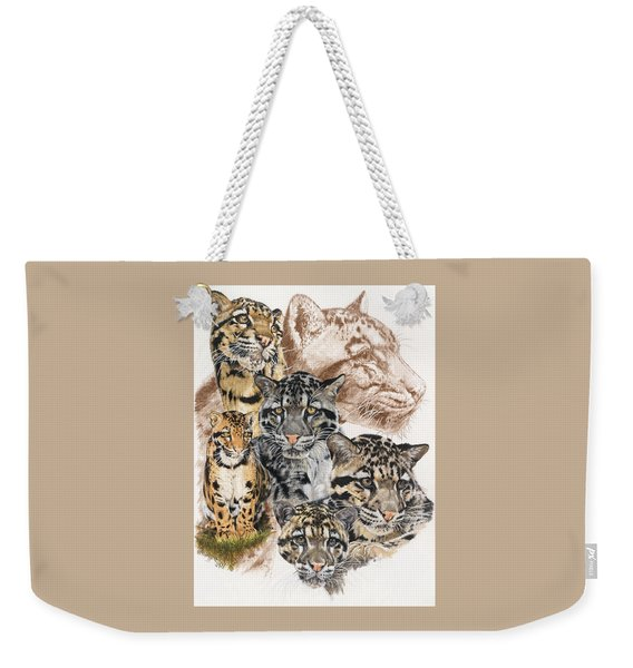 Weekender Tote Bag featuring the mixed media Cloudburst by Barbara Keith