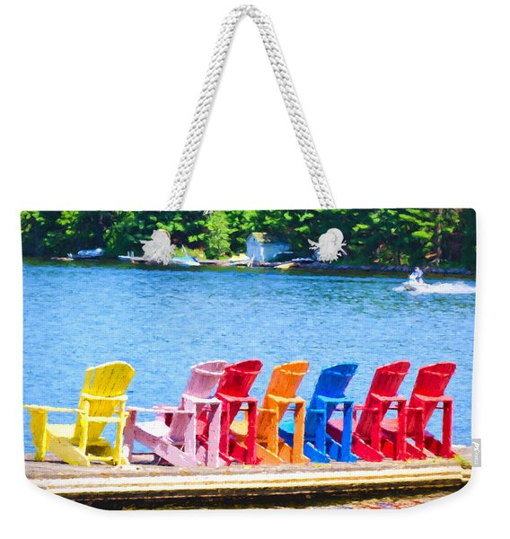 Colorful Chairs Weekender Tote Bag