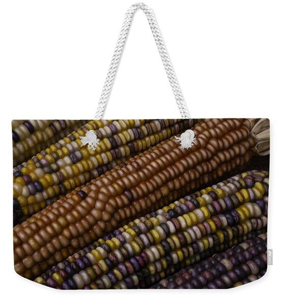 Colorful Indian Corn Weekender Tote Bag