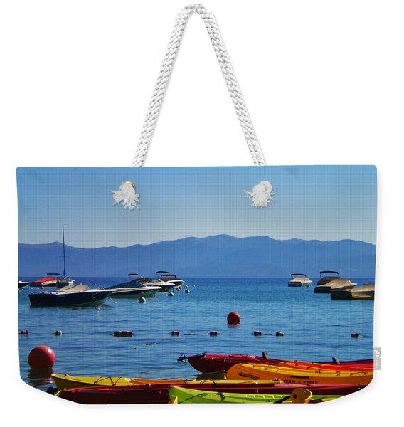 Colorful Kayaks Lake Tahoe Weekender Tote Bag