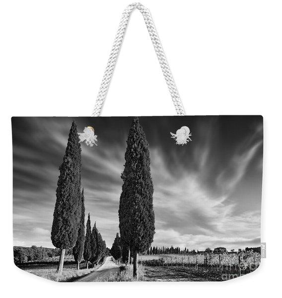 Cypress Trees- Tuscany Weekender Tote Bag