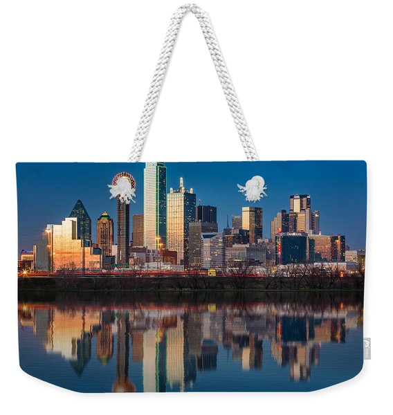 Dallas Skyline Weekender Tote Bag