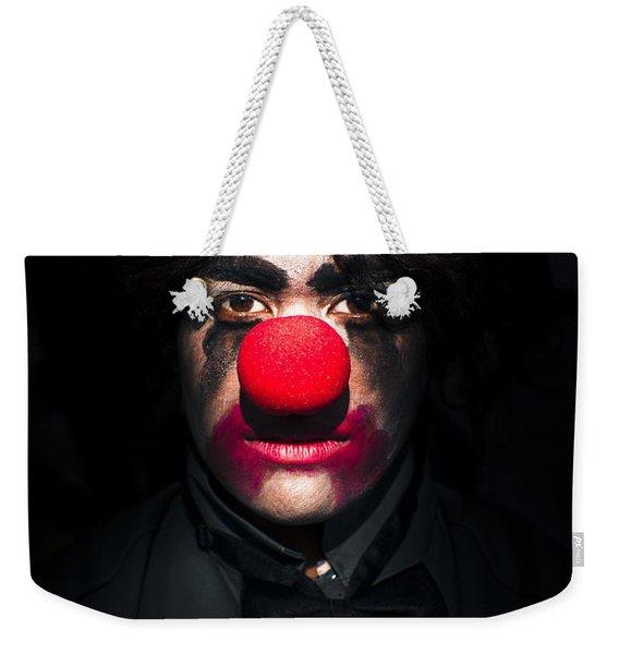 Dark Scary Clown Weekender Tote Bag