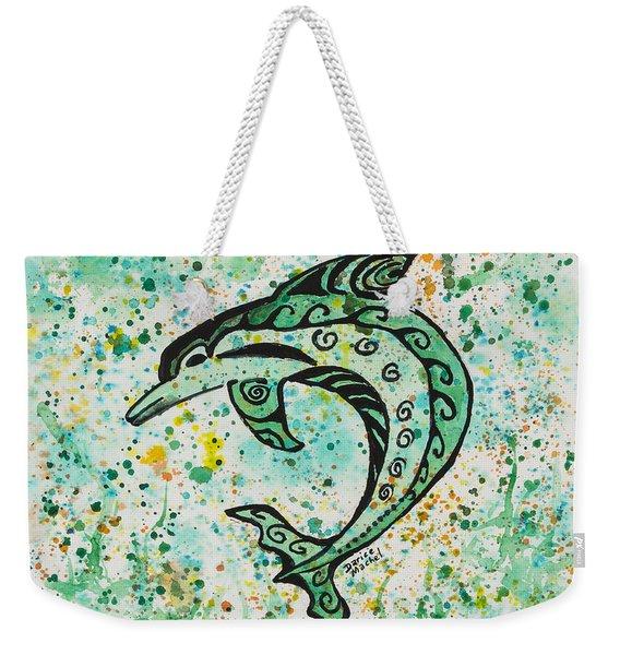 Dolphin 2 Weekender Tote Bag