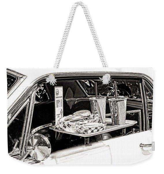 Drive-in Weekender Tote Bag