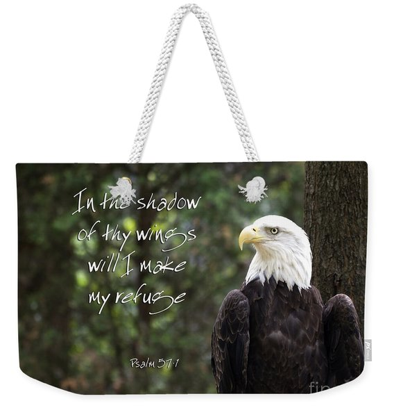 Eagle Scripture Weekender Tote Bag