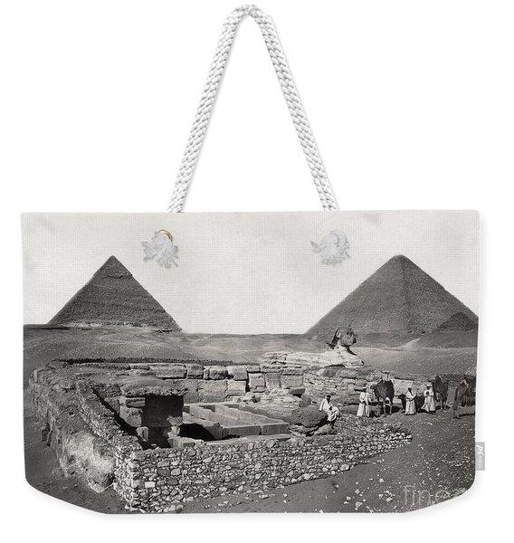 Egypt: Cheops Pyramid Weekender Tote Bag