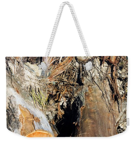 Environmental Destruction In Construction  Weekender Tote Bag