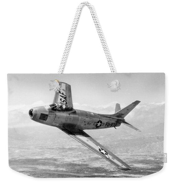 F-86 Sabre, First Swept-wing Fighter Weekender Tote Bag