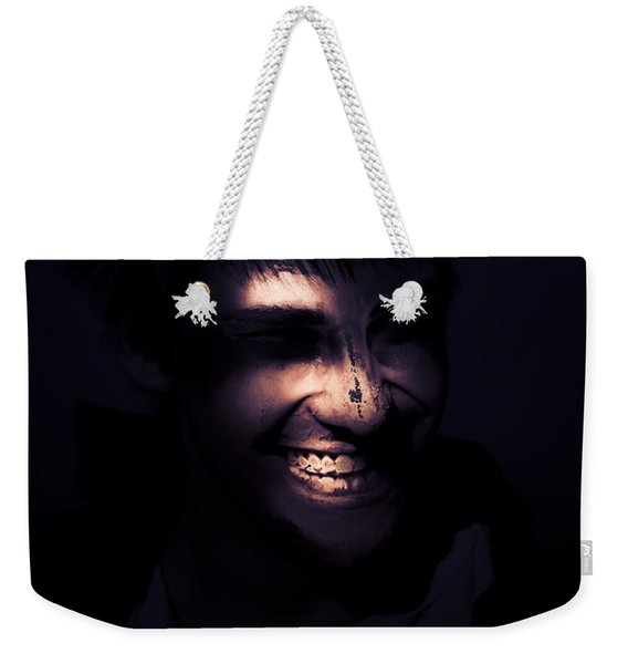 Face Of Horror Terror And Madness Weekender Tote Bag