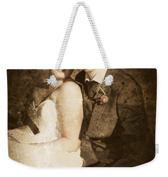 Faded Vintage Wedding Photograph Weekender Tote Bag