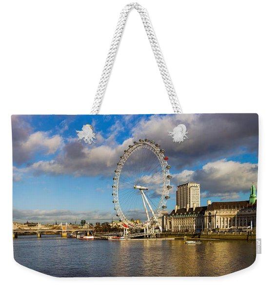 Ferris Wheel At The Waterfront Weekender Tote Bag