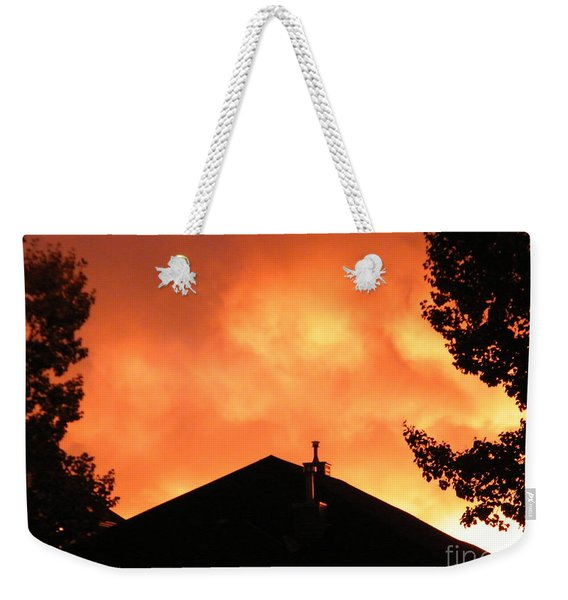 Fire In The Sky Weekender Tote Bag