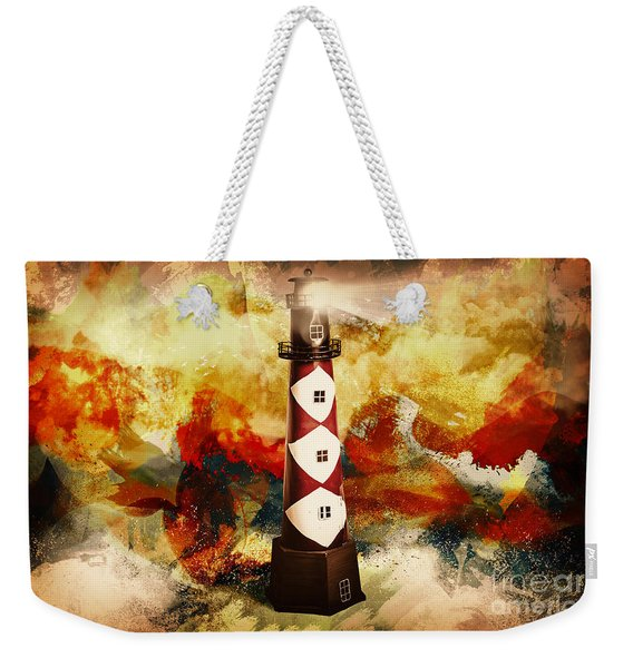 Fire On Lighthouse Hill Weekender Tote Bag