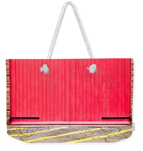 Fire Station Weekender Tote Bag