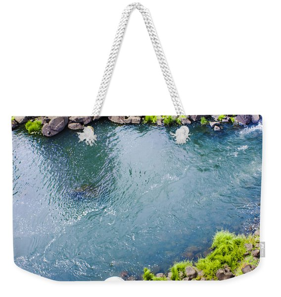 First Person View Riding The Tasmanian Chairlift Weekender Tote Bag