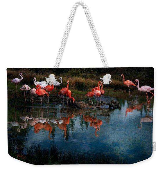 Flamingo Convention Weekender Tote Bag