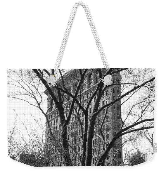 Flat Iron Tree Weekender Tote Bag