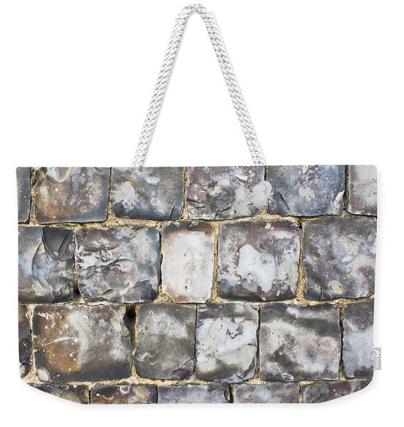 Flint Stone Wall Weekender Tote Bag