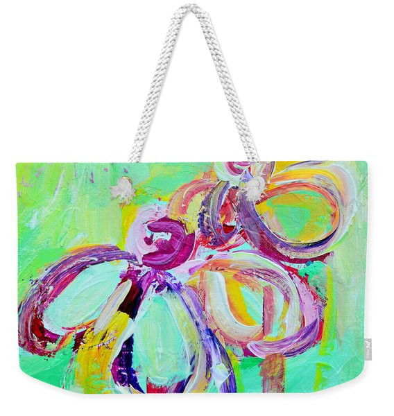 Abstract Flowers No 10 Weekender Tote Bag